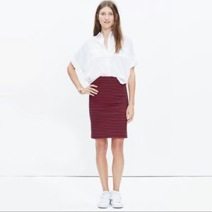 Madewell Poppy Sailor Stripe Pencil Skirt Size XXS